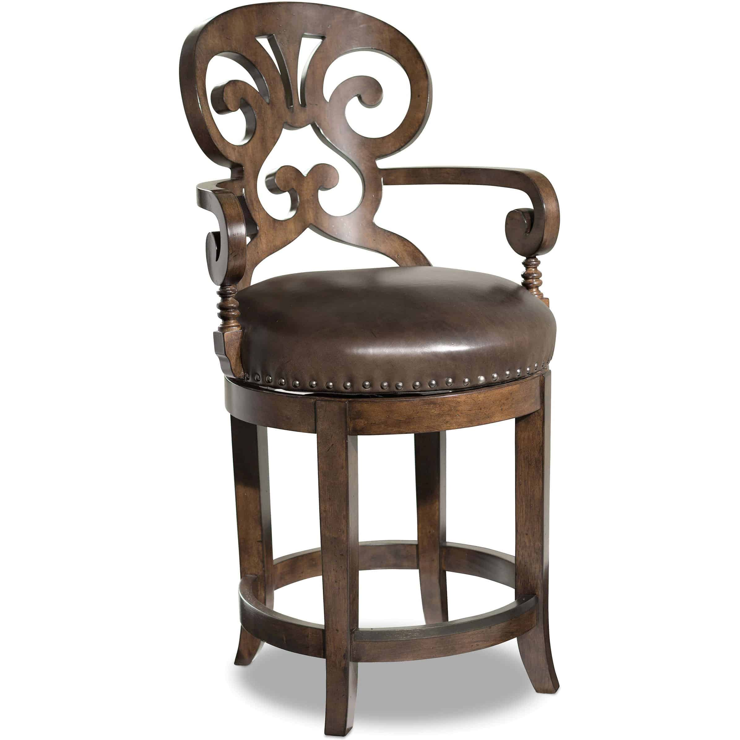 Astonishing Jameson Traditional Leather Counter Stool Pabps2019 Chair Design Images Pabps2019Com
