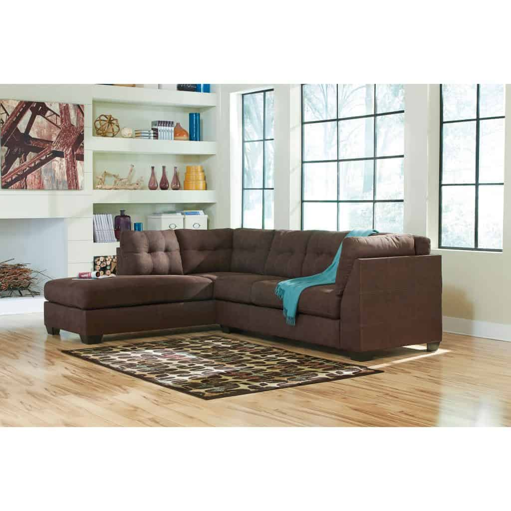 Maier Walnut LAF Chaise Sectional 45201-16-67