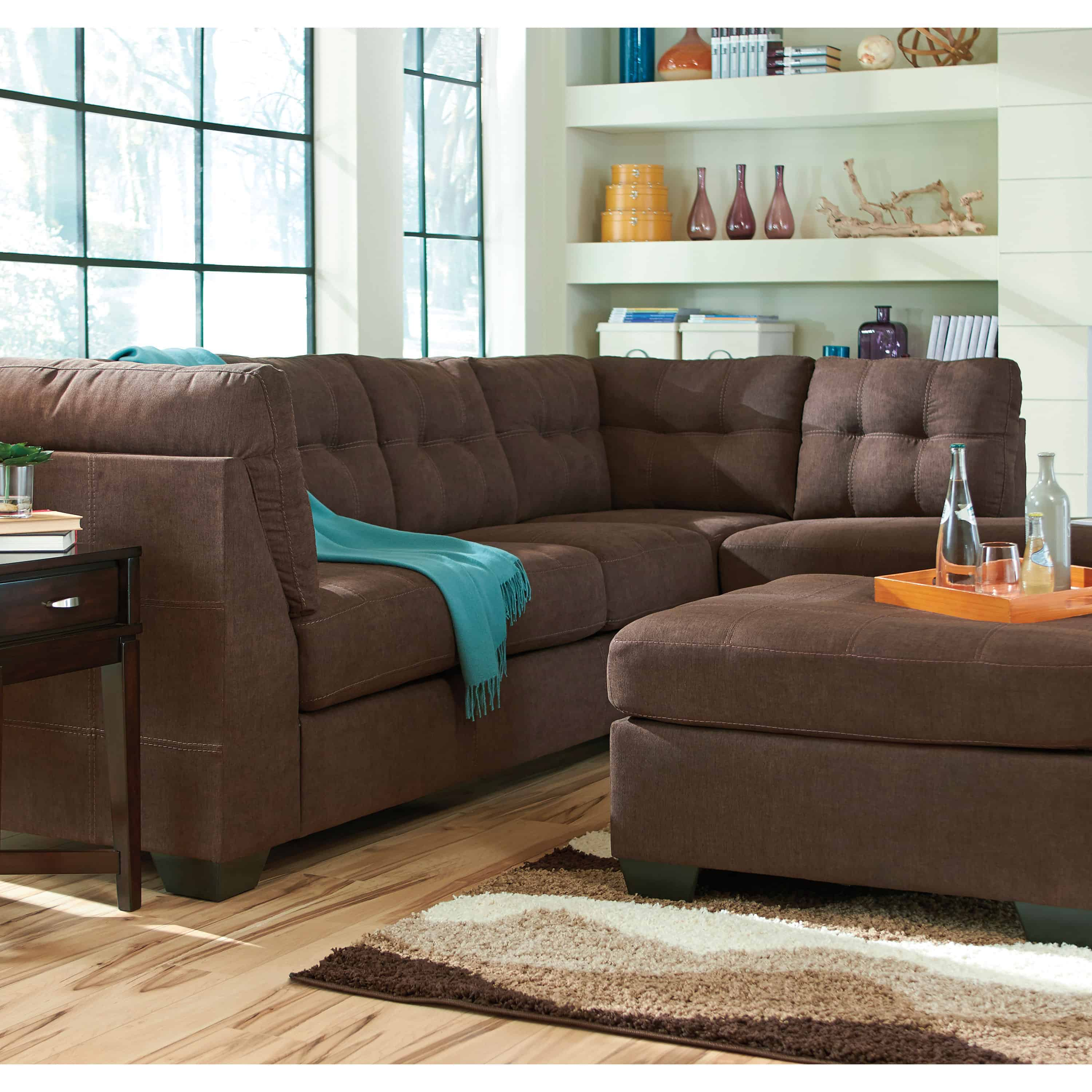 Maier Walnut Raf Chaise Sectional 45201 66 17