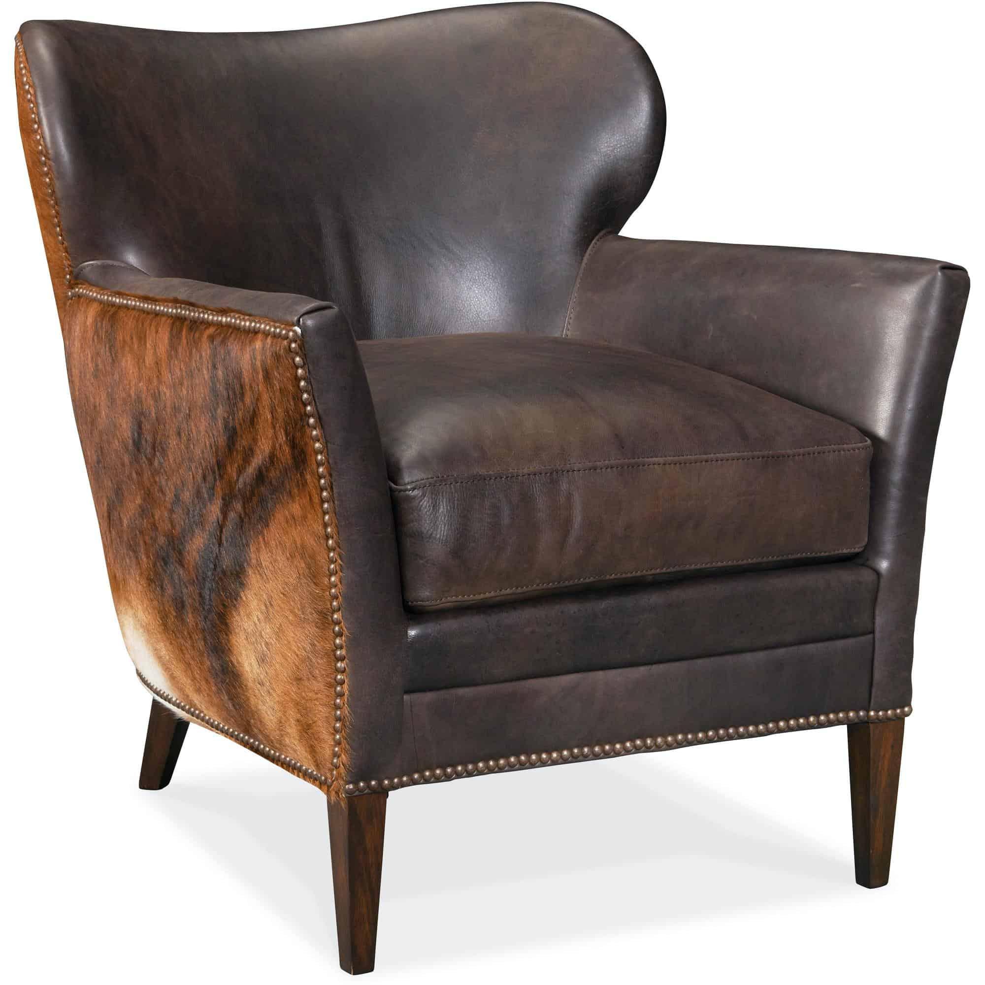 Picture of: Kato Leather Club Chair W Dark Brindle Furnishmyhome Ca